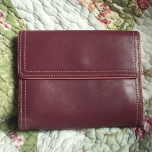 Coach Plum & Pink Leather Wallet